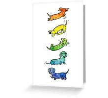 Watercolor Dachshunds Greeting Card