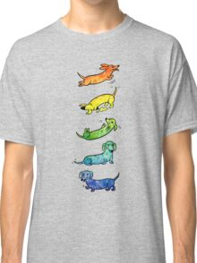 Watercolor Dachshunds Classic T-Shirt