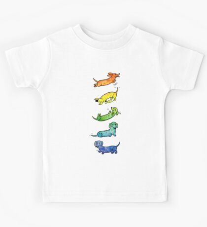 Watercolor Dachshunds Kids Tee