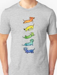 Watercolor Dachshunds Unisex T-Shirt