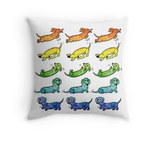 Watercolor Dachshunds Throw Pillow