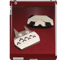 Totoro and panda origami iPad Case/Skin