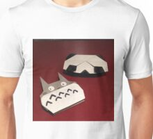 Totoro and panda origami Unisex T-Shirt