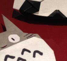 Totoro and panda origami Sticker