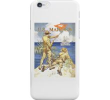 US Marines Poster - World War 1 iPhone Case/Skin