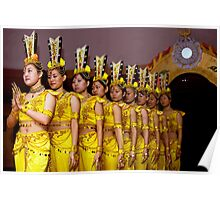 Nine Chinese Dancers Poster