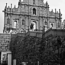 The walk up to Heritage - St Paul's Cathedral - Macau by Francisco Vasconcellos
