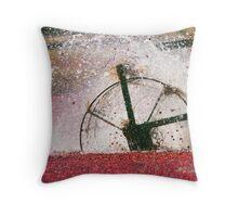 Harvesting cranberrys Throw Pillow