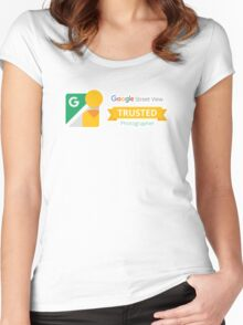 Google Maps | Street View | Trusted Photographer Women's Fitted Scoop T-Shirt