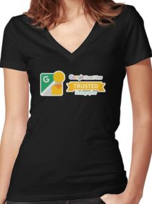 Google Maps   Street View   Trusted Photographer Women's Fitted V-Neck T-Shirt