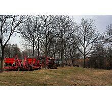 Farm Implements Photographic Print