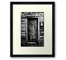 European Doorway Framed Print