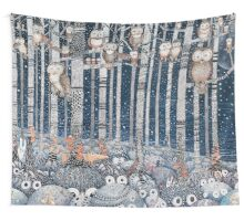 Owl Forest Wall Tapestry