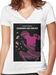 No277-007 My Diamonds Are Forever minimal movie poster Women's Fitted V-Neck T-Shirt
