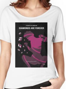 No277-007 My Diamonds Are Forever minimal movie poster Women's Relaxed Fit T-Shirt