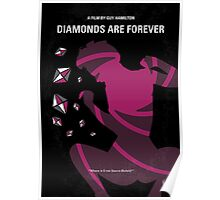 No277-007 My Diamonds Are Forever minimal movie poster Poster