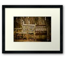Resting Place Along The Way - Riverbanks Zoo Framed Print