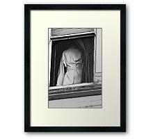 the coat Framed Print