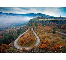 Autumn Hairpin Turn Photographic Print