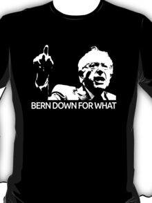 Bernie Sanders Bern Down For What Realistic  T-Shirt