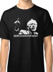 Bernie Sanders Bern Down For What Realistic  Classic T-Shirt