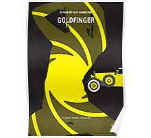 No277-007 My Goldfinger minimal movie poster Poster