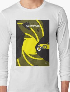 No277-007 My Goldfinger minimal movie poster Long Sleeve T-Shirt