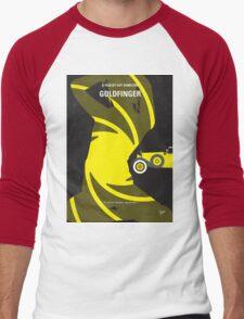 No277-007 My Goldfinger minimal movie poster Men's Baseball ¾ T-Shirt