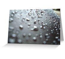 Rain Dropped Umbrella 2 Greeting Card