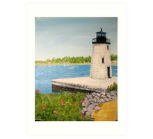 Goat Island Lighthouse - Newport RI Art Print