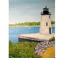 Goat Island Lighthouse - Newport RI Photographic Print