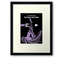 No277-007 My You Only Live Twice minimal movie poster Framed Print