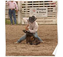 Calf Roping Poster