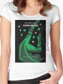 No277-007-2 My Casino Royale minimal movie poster Women's Fitted Scoop T-Shirt