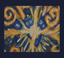 Exploding TARDIS-shaped object