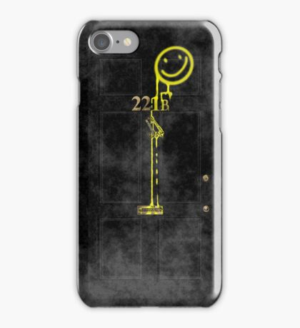 Smile! You're at 221B - yellow, foggy iPhone Case/Skin