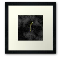 Smile! You're at 221B - yellow, foggy Framed Print