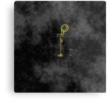 Smile! You're at 221B - yellow, foggy Metal Print