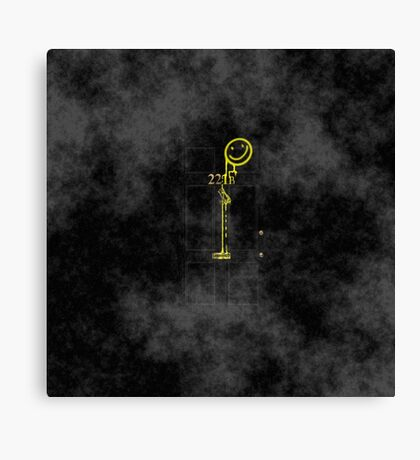 Smile! You're at 221B - yellow, foggy Canvas Print
