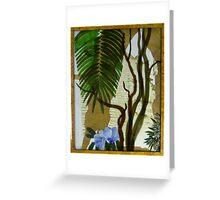 Bangalow Palm, Angophora and Native Hibiscus Greeting Card