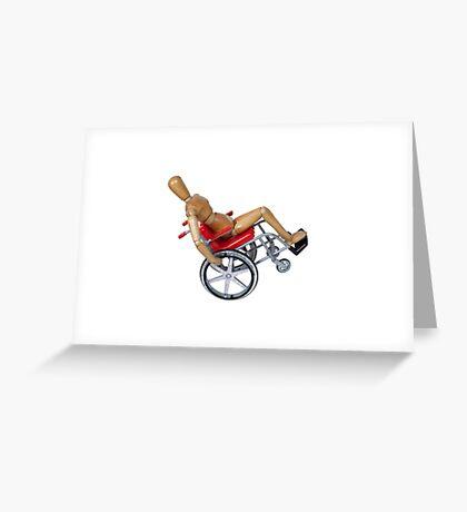 Wheelie Wheelchair Greeting Card