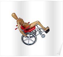 Wheelie Wheelchair Poster