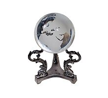 Crystal Europe Globe Photographic Print