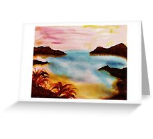 Looking Out from the Coves, watercolor Greeting Card