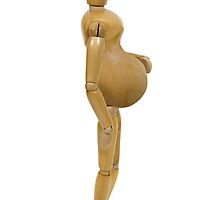 Pregnant Wooden Model by Penywise