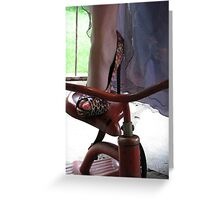 tricycle on highs Greeting Card