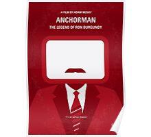 No278 My Anchorman Ron Burgundy minimal movie poster Poster