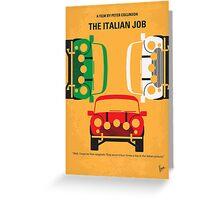 No279 My The Italian Job minimal movie poster Greeting Card