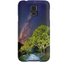 Trees in the alps under the Milky Way Samsung Galaxy Case/Skin