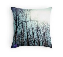 a whispered love story floating in the tops of the trees fingertips Throw Pillow